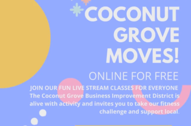 colorful illustration for Coconut Grove Moves free online fitness classes