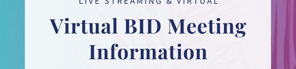 October Virtual Bid Meeting