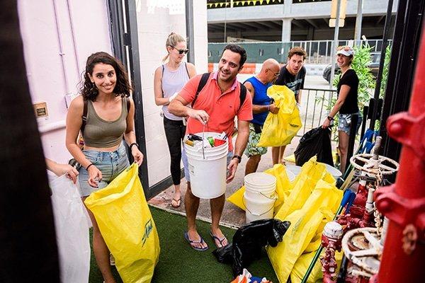 urban cleanup debris free oceans garbage bags people caiti waks