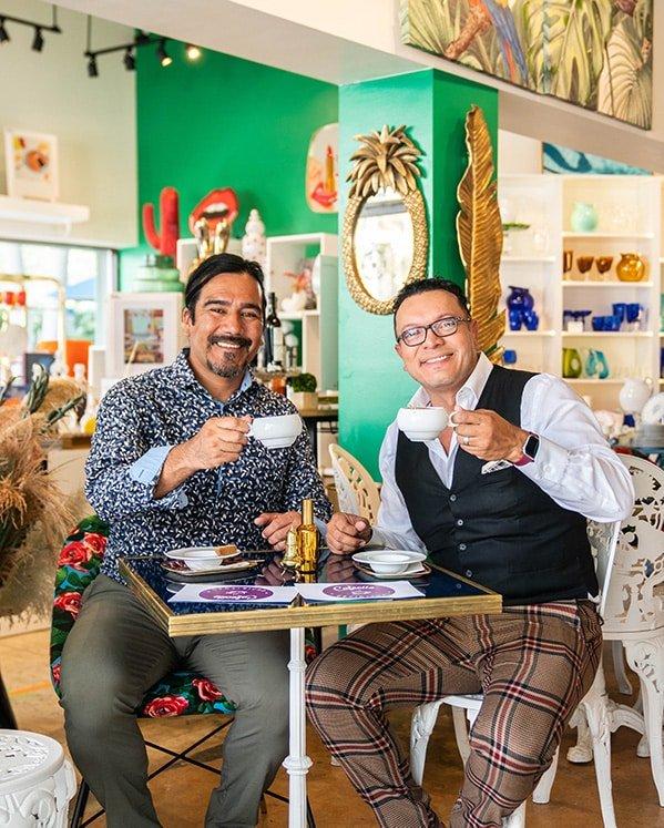 cafecito espiritual men coffee smiling coconut grove