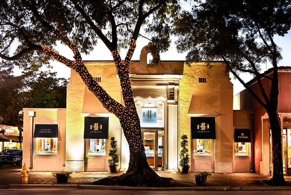 jewelry storefront trees christmas lights bredemeier