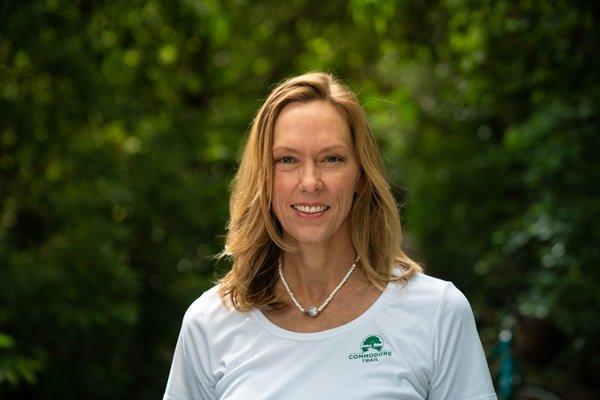 woman smiling tshirt blond mary munroe