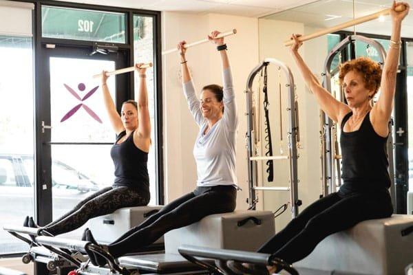 pilates reformer people arm exercises